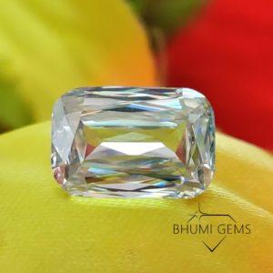 Emerald Criss Cut 2CT-25CT Loose Moissanite Diamond   Gemstone   Fancy Cut   Bhumi Gems   Making Ring, Earrings, Pendant   Genuine Moissanite