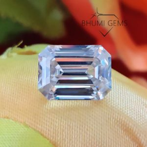 1CT-50CT Emerald Colorless VVS1 Clarity Loose Moissanite Diamond   Gemstone   Loose Diamond Stone   Ring   Pendant   Earring   Bhumi Gems