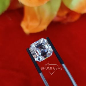 Asscher 1CT-10CT Loose Moissanite Diamond Gemstone For Engagement , Wedding, Anniversary, Bridal Making Ring, Earring, Pandant,By Bhumi Gems