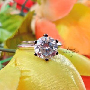 4CT Round Colorless Diamond Moissanite Engagement Ring   Wedding   Solitaire   Halo   Split Shank   Prong   Bezel   Gemstone   Gold   Silver
