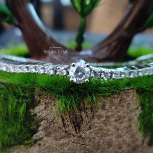 4.17 TCW Round Colorless Diamond Moissanite Bracelet Women, Wedding Tennis Bracelet Eternity, Adjustable Diamond Bracelet, Engagement Bridal