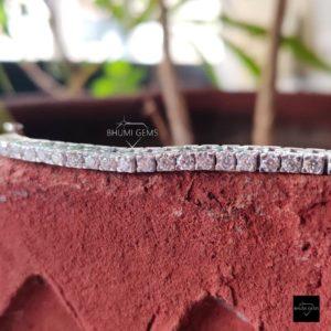 4.60TCW Round Colorless Diamond Moissanite Bracelet Women, Wedding Tennis Bracelet Eternity Diamond Bracelet, Engagement Art Deco Jewelry