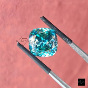 1CT-50CT Dark Blue Cushion Loose Moissanite, Loose Gemstone, Loose Diamond For Making Jewelry Engagement Ring, Pendant, Bands, Gift For Her