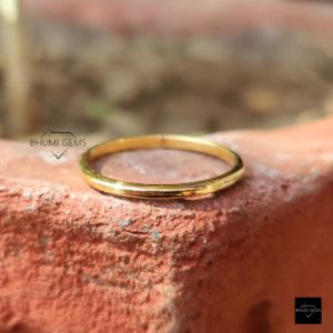 Comfort Fit Solid Gold Band   Matching Wedding Band   Stackable Band   10k/14k/18k Solid Gold Band   Anniversary Gift for Her, Designer Band