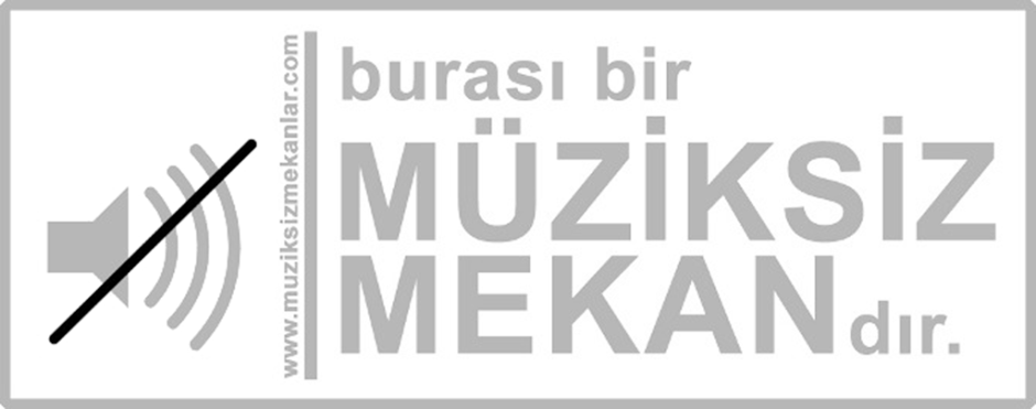 muziksiz mekan sticker