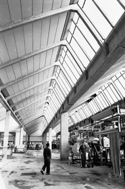 Boya Basma Apre Fabrikası-DEBA, Denizli (1973-74) Bektaş Mimarlık İşliği SALT Araştırma, Cengiz Bektaş Arşivi