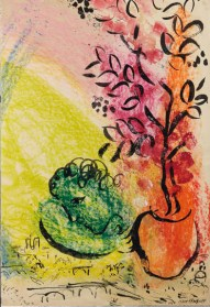Marc Chagall, The Bouquet of Paris, 1954. Gouache, Pastel and India Ink. Courtesy Gilden's Art Gallery.