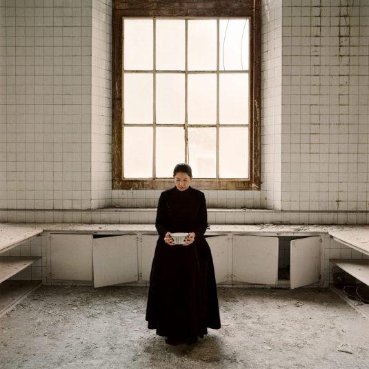 The Kitchen V, Carrying the Milk, 2009 (Mutfak V, Sütü Taşıma) The Kitchen, Homage to Saint Teresa (Mutfak, Azize Teresa Anısına) serisinden Video için performans