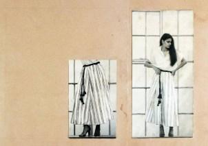 David Abraham'ın baskılı Khadi kumaşıyla tasarladığı mezuniyet projesi (1980)