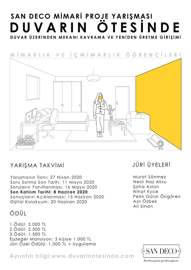 """""""DUVARIN ÖTESİNDE"""" (San Deco) Mimari Proje Yarışmasının KAZANANLARI BELLİ OLDU!"""