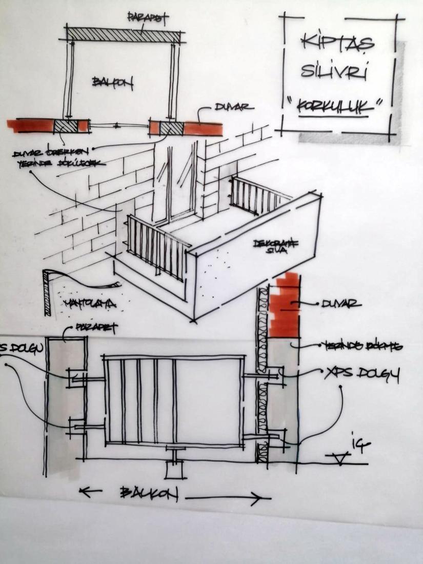 Balkon detayı, Kiptaş Silivri 4. Etap Konutları, PDG Mimarlar