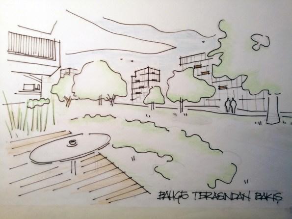 Bahçe terasından bakış, Kiptaş Silivri 4. Etap Konutları, PDG Mimarlar