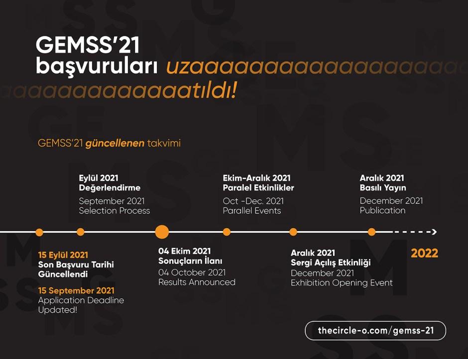GEMSS 21 Güncellenen Takvim