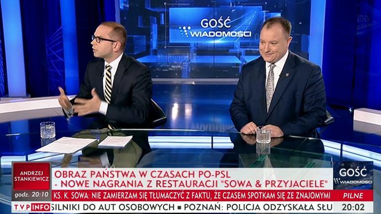 Kłótnie w programie 'Gość Wiadomości' TVP