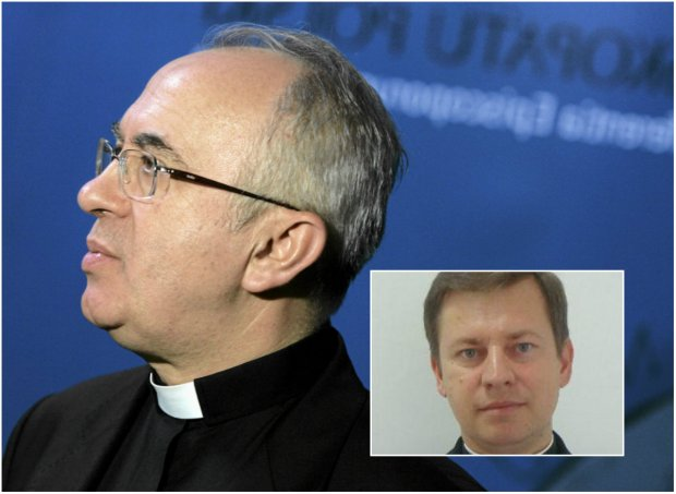 Ks. Józef Kloch (duże zdjęcie) złożył gratulacje swojemu następcy. Jest nim ks. prof. Pawel Rytel-Andrianik