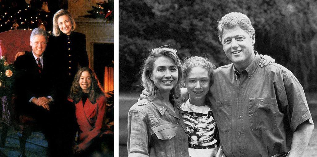 Rodzina Clintonów (fot. Office of the President of the United States / wikimedia.org / domena publiczna)