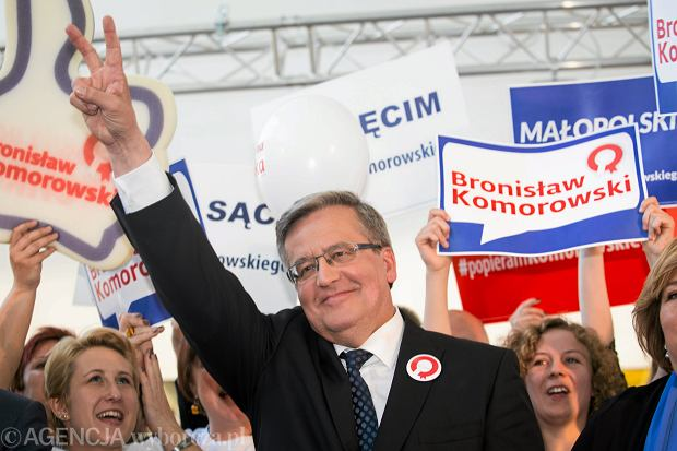 Wybory prezydenckie 2015. Bronisław Komorowski na kampanii wyborczej w Krakowie