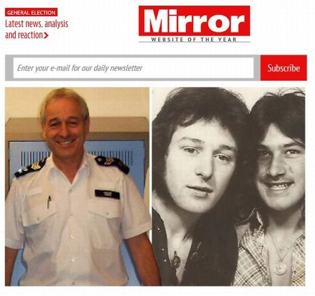 57-letni Will Connor - dzisiaj, jako policjant, i 40 lat temu, gdy poznał Dabby