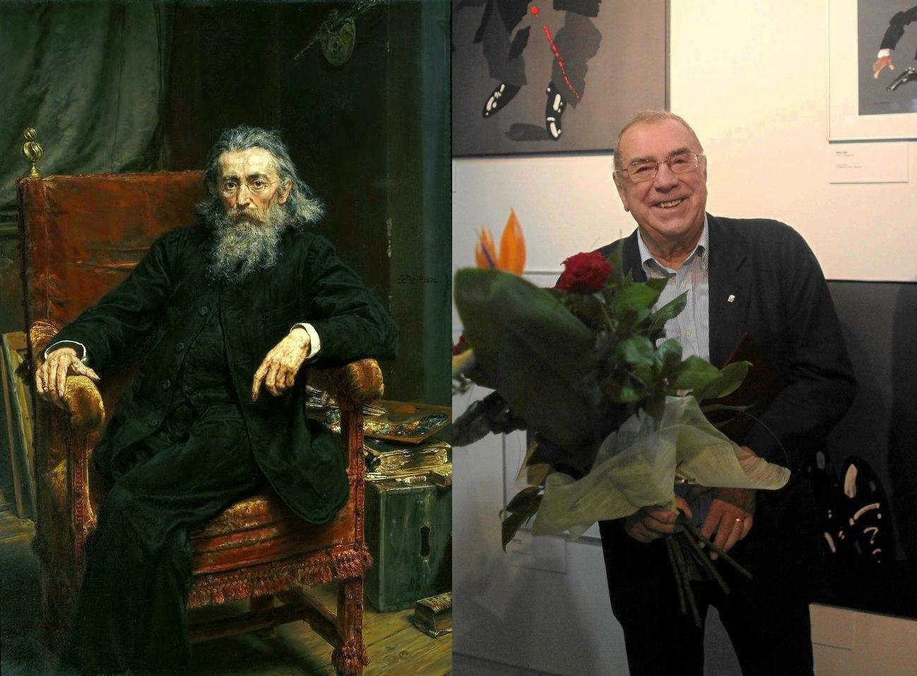 Jan Matejko (Wikipedia.org / http://bit.ly/1F83aCD / CC BY / http://bit.ly/1KVnLPx) oraz Waldemar Świerzy (fot. Dawid Chalimoniuk / Agencja Gazeta)