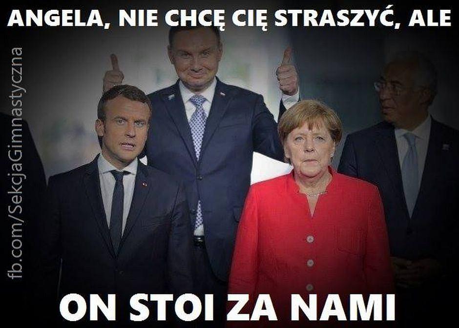 Andrzej Duda na szczycie NATO w Brukseli 2017, Memy