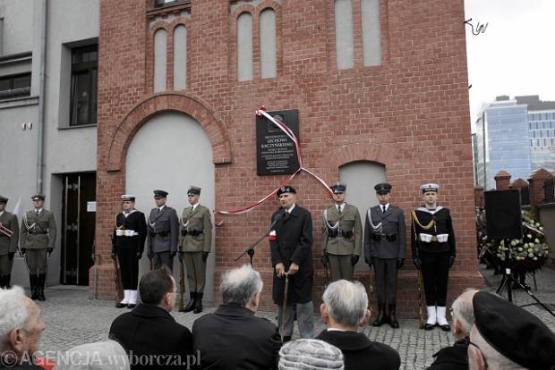 Odsłonięcie tablicy poświęconej Lechowi Kaczyńskiemu w Muzeum Powstania Warszawskiego
