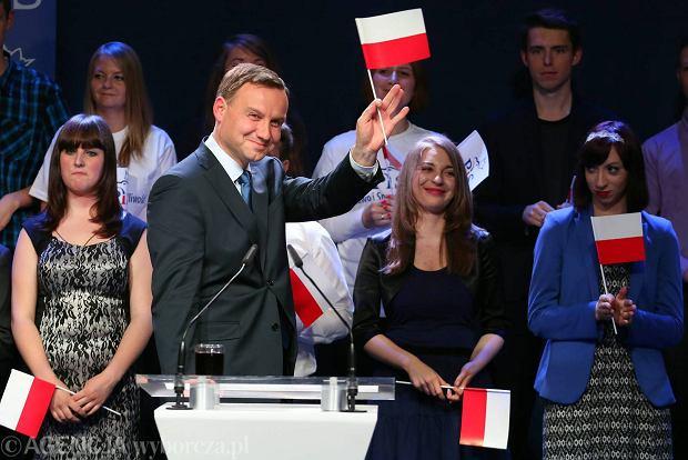 Kongres PiS w Krakowie. Andrzej Duda