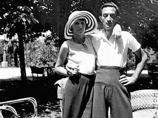 Gala i Salvador w 1930 r.