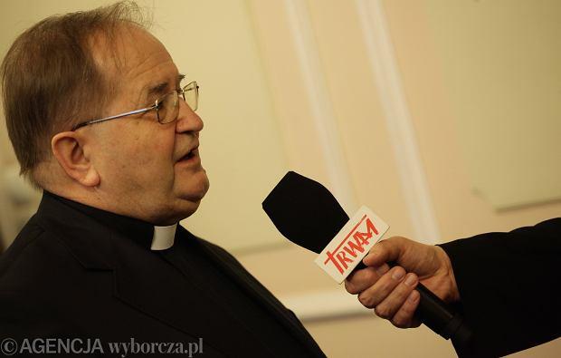 Ojciec Tadeusz Rydzyk po posiedzeniu sejmowej komisji kultury