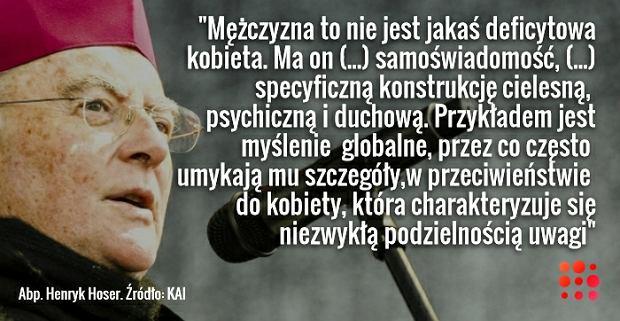 Abp. Henryk Hoser - cytat