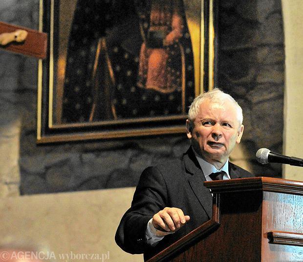 Prezes PiS Jarosław Kaczyński podczas kongresu