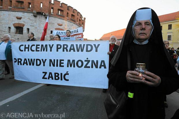 Obchody rocznicy katastrofy smoleńskiej w Krakowie