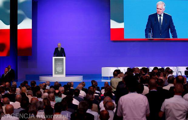 Jarosław Gowin na konwencji programowej PiS w Katowicach