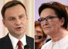 Krótka rozmowa Andrzeja Dudy i Ewy Kopacz. TVN: Prezydent i premier rozmawiali o dymisji