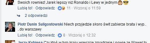 Wpis Piotra Dunin-Suligostowskiego