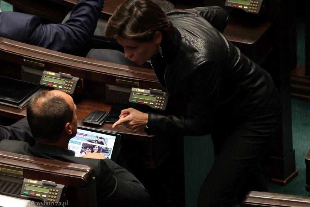 Starcie Joanny Muchy i Pawła Kukiza, jesień 2016 r., Sejm (fot, Sławomir Kamiński/AG)