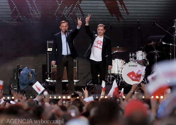 Prezydent Andrzej Duda i szef NSZZ