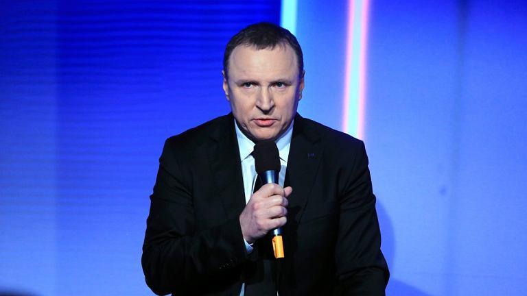 Jacek Kurski na konferencji prasowej TVP.