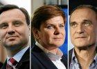 Ranking zaufania polityków. Na czele Duda, Kukiz i Szydło