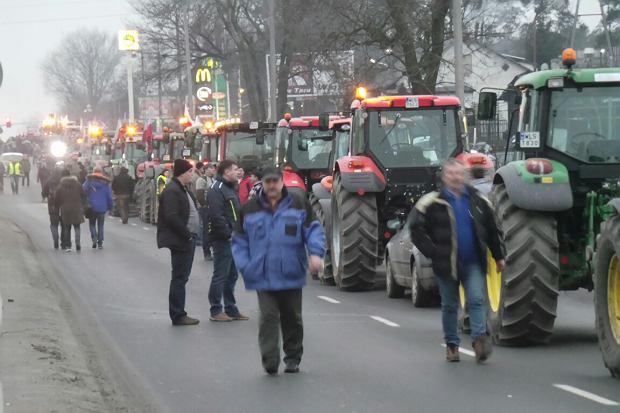 Protest rolników w Zakręcie