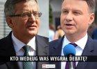 """Kto wygrał debatę? Odpowiadacie: """"Komorowski zmiażdżył Dudę"""", """"Duda pełna kultura"""" [WYNIKI SONDY]"""