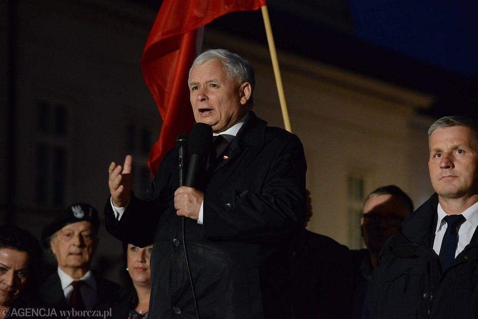 Miesięcznica smoleńska, 10.08.2016. Przemawia Jarosław Kaczyński
