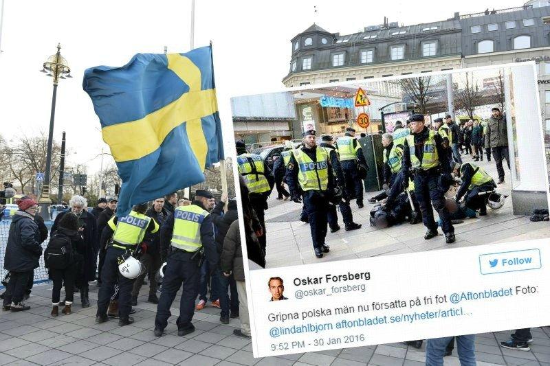 Zdjęcie numer 1 w galerii - Trzech Polaków zatrzymanych w Sztokholmie. Brali udział w demonstracji przeciwników imigracji