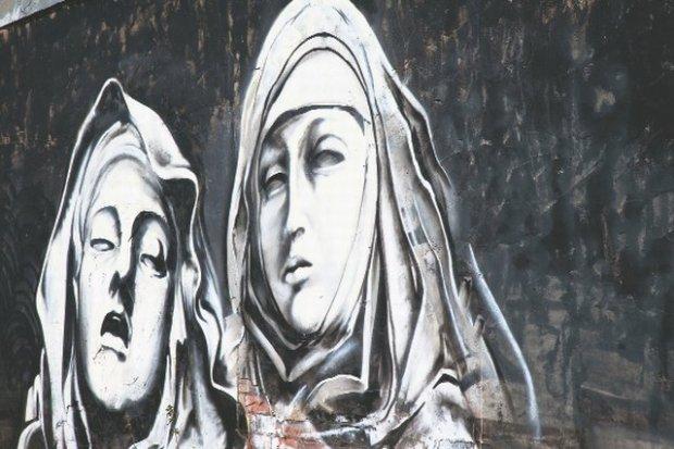 Mural w Preston w Wielkiej Brytanii na podstawie