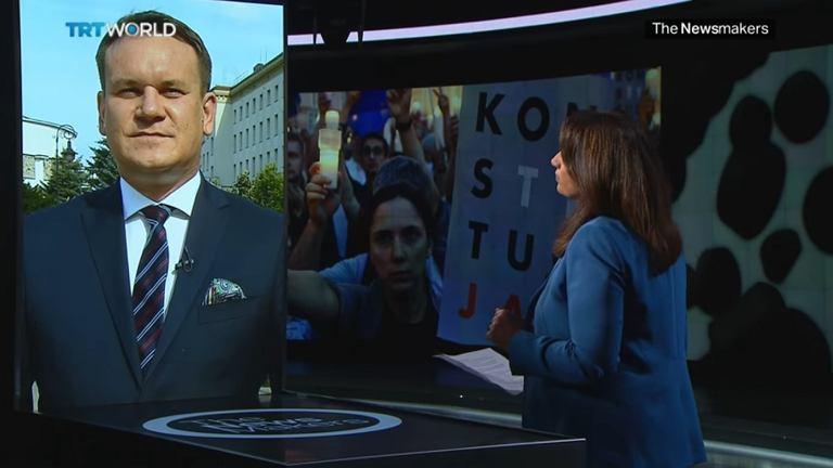 Dominik Tarczyński w tureckiej TV