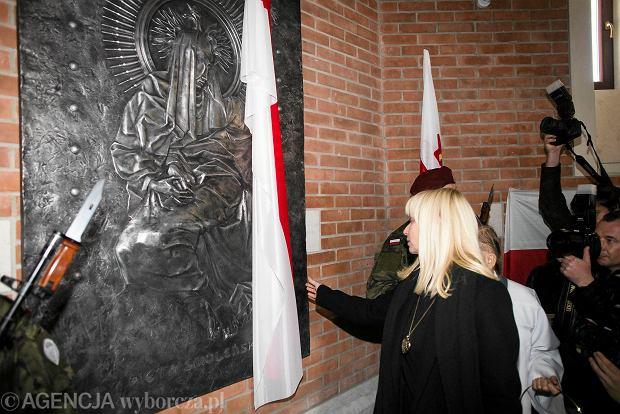 Uroczystość odsłonięcia Piety Smoleńskiej w sanktuarium św. Jana Pawła II w Krakowie