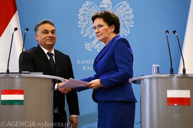 Spotkanie premiera Węgier Viktora Orbana z premier Ewą Kopacz