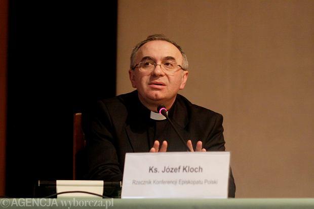 Ks. Józef Kloch, rzecznik Episkopatu Polski