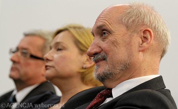 Anna Sikora i Antoni Macierewicz z PiS