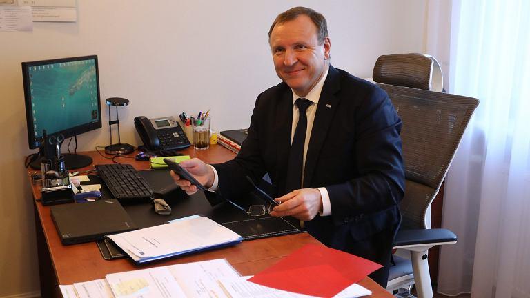 Jacek Kurski w siedzibie Rady Mediów Narodowych