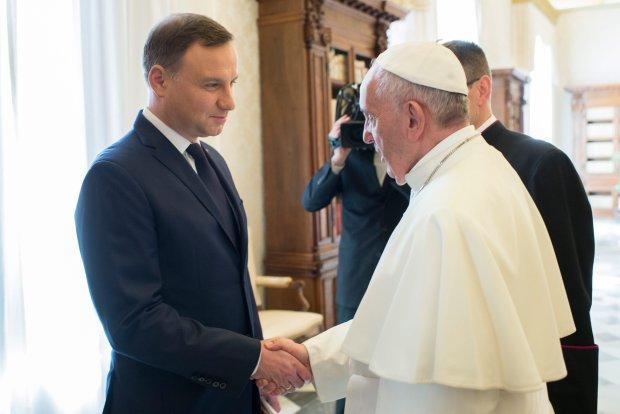 Spotkanie prezydenta Andrzeja Dudy z papieżem Franciszkiem